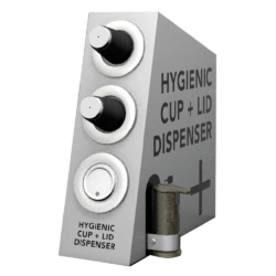 Hygenic Cup and Lid Dispenser