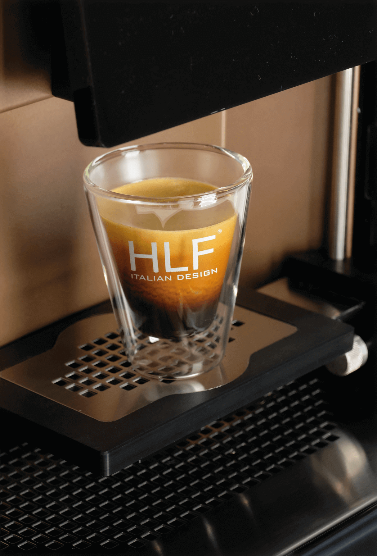 Coffee being poured by an HLF coffee machine