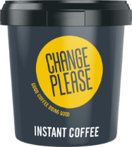 Change Please instant coffee drum