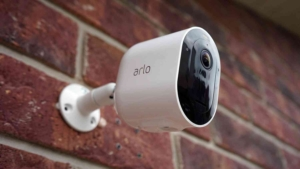 alro security camera on wall