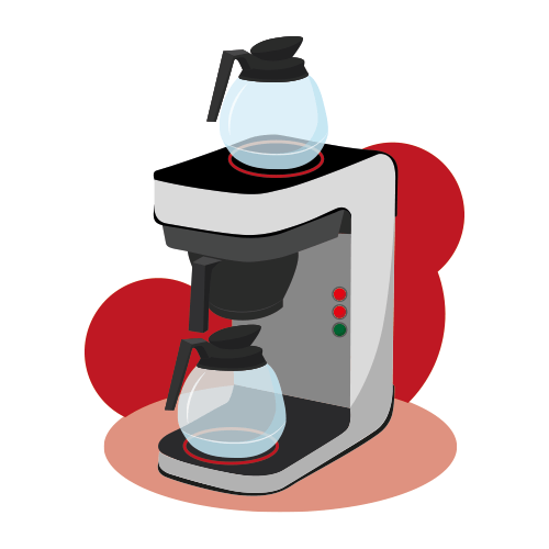Filter Coffee Machine Illustration