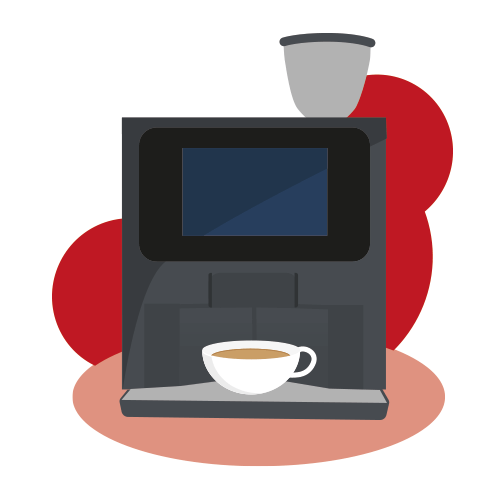 Bean to Cup Coffee Machine Illustration