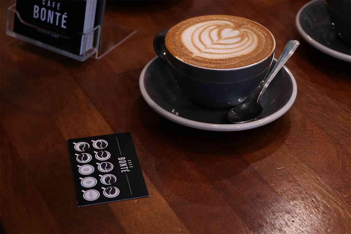 Cafe Bonté Coffee Loyalty Card