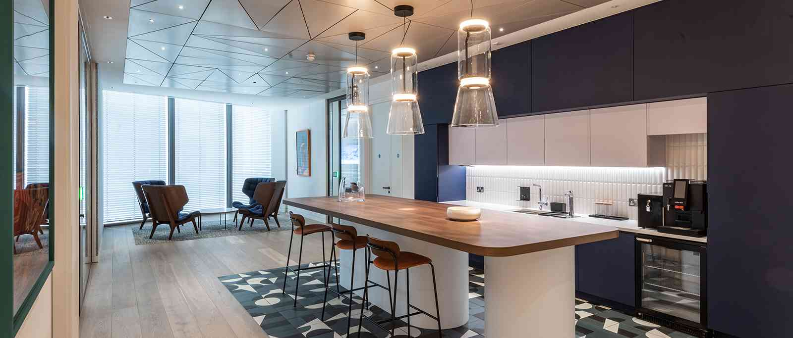 Office at 22 Bishopsgate London with Schaerer Soul Coffee Machine