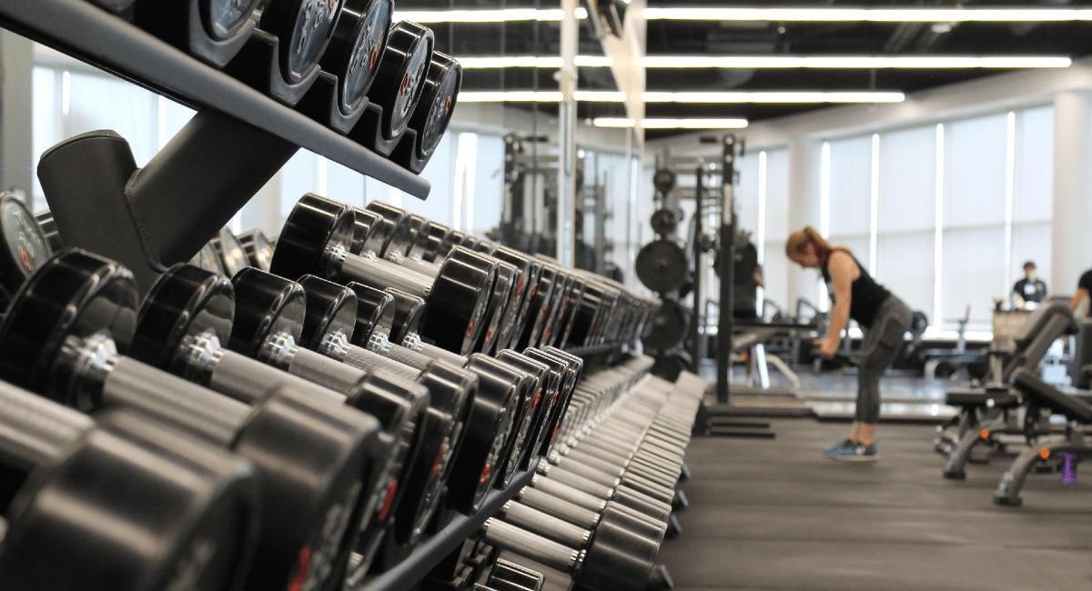 Inside a Busy Gym
